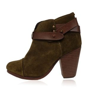 RAG & BONE HARROW SUEDE  ROUND TOE ANKLE BOOTS